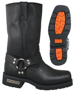 Xelement 1443 Mens Black Harness Motorcycle Biker Boots with