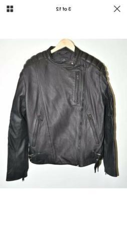$1650 Y-3 ADIDAS Hero Biker Jacket Leather MOTO BIKER PADING