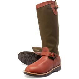 "CHIPPEWA 17"" DESCARO men's Snake Buckle Boots leather Moto"