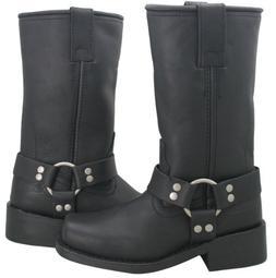 Xelement 2442 Classic Womens Black Full Grain Leather Harnes