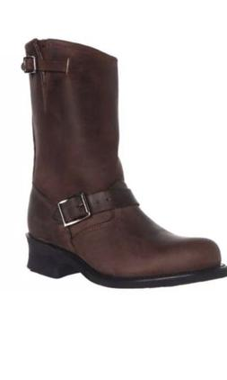 Frye $278 Womens Engineer Brown Motorcycle Boots Shoes 10 Me