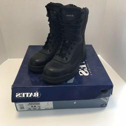 Bates 9.5 M Boots Durashock Black Suede Steel Toe Motorcycle