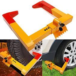 Anfan Car Wheel Lock Anti Theft Tire Lock Clamp Boot Tire Cl