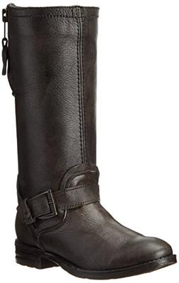 Bed|Stu Women's Token Motorcycle Boot, Gray Barcelona/Black