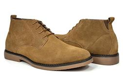 Bruno Marc Men's Chukka Tan Suede Leather Chukka Desert Oxfo