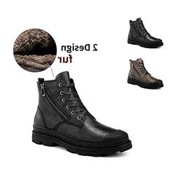 ENLEN and BENNA Mens Motorcycle Combat Boots Military Desert