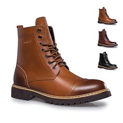 ENLEN and BENNA Work Boots for Men Motorcycle Dress Boot Cas