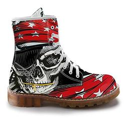 FIRST DANCE Fashion Mens Skull Boots Martins Shoes for Men S