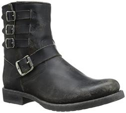 FRYE Women's Veronica Belted Short-STO Engineer Boot,  Black