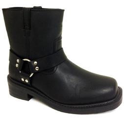 G4FD Men's Motorcycle Boots Harness Genuine Leather Short En