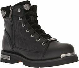 Harley-Davidson Men's Chipman Motorcycle Boot, Black, 7 Medi