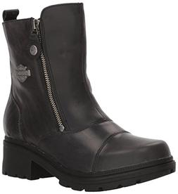 Harley-Davidson Women's Amherst Motorcycle Boot, Black, 10 M