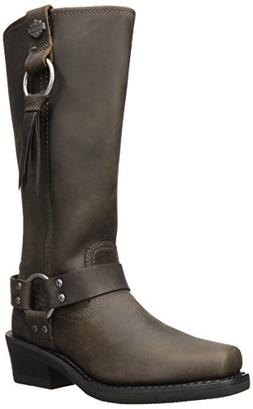 Harley-Davidson Women's Fenmore Motorcycle Boot, Brown, 11 M