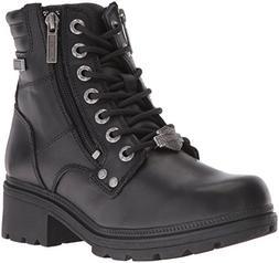 Harley-Davidson Women's Inman Mills Motorcycle Boot, Black,