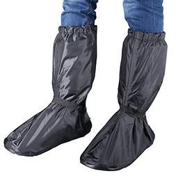 Hilitchi Men Black Waterproof Rainstorm Rainy Day Rain suit