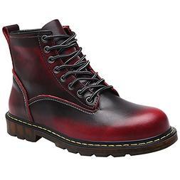 Jamron Men Vintage Ankle Martin Boots Chukka Boots Durable C