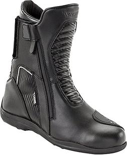 Joe Rocket Nova - Mens' Leather Motorcycle Boot - Black/Carb