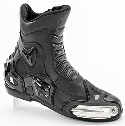 Joe Rocket Superstreet - Mens' Leather Motorcycle Boot - Bla