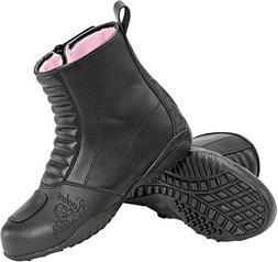 Joe Rocket Trixie - Womens Leather Motorcycle Boot - Black -