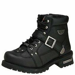 "Milwaukee Road Captain 6"" Men US 13 2E Black Motorcycle Boot"