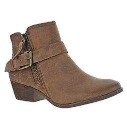 Not Rated Women's Tessa Motorcycle Boot, Tan, 9 M US