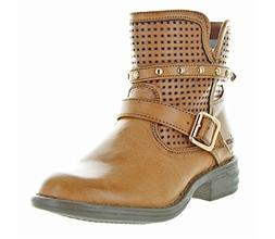 Skechers Girls' Mad Dash Pretty N Perfed Ankle Boot,Camel,US