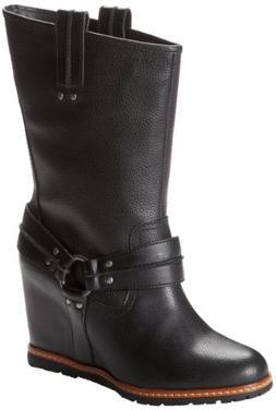 Skechers Women's Cheeky-High Rider Boot,Black,7 M US