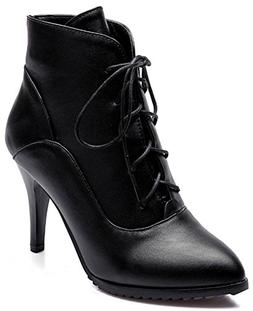 Summerwhisper Women's Sexy Pointed Toe Lace-up Booties Stile