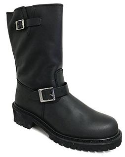 V1A005S Men's Engineer Boots Motorcycle Classic Harness Genu
