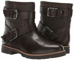 Aerosoles Women's Independence Motorcycle Boot, Brown Leathe