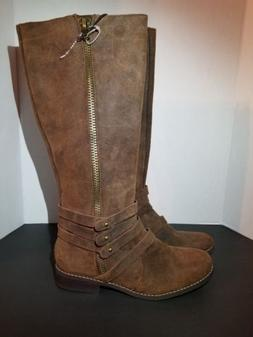 Steve Madden Alvinnn Riding Boots Tall Motorcycle Oiled Sued