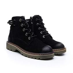Chic Women Ankle Boots Cow Suede Martin Boots for Women Casu