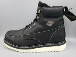 "Harley-Davidson Men's Beau 6"" Leather Zip-Up Motorcycle Boot"