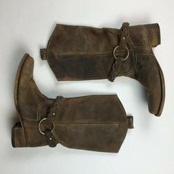 Bed stu Women's Boots Brown Leather Harness Riding Boots 7.5