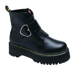 Black <font><b>Boots</b></font> Leather Booteis 2019 Women A