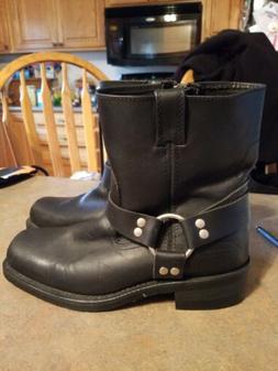 Xelement Black Leather Motorcycle Boots Sz 9.5 NWOT!