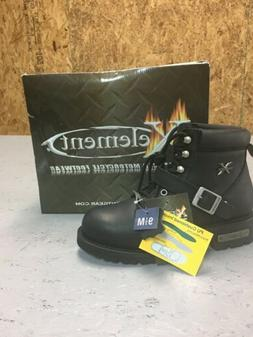 Xelement Black Leather Motorcycle Boots  Women's  9.5