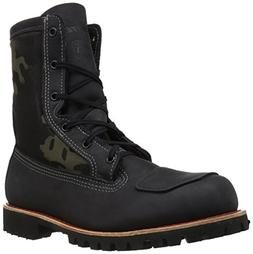 Bates Men's Bomber Work Boot, Black/Camo, 10 M US