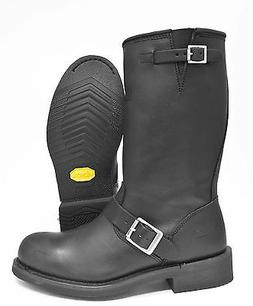 Bates Boots Palomar Black Leather Engineer Style Motorcycle