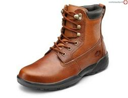 Dr Comfort  Boss Leather Diabetic Shoes Work Boots W Gel Ins
