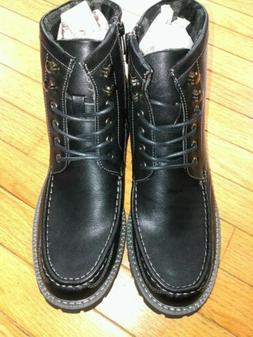 Bruno Marc Motorcycle Boots Stone Black Mens Dress Oxford Mi