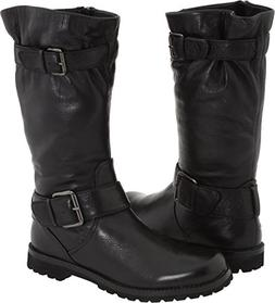 Gentle Souls Women's Buckled up Moto Motorcycle Boot, Black,