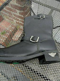 Camel brand new rare black Boot Leather Engineer Motorcycle