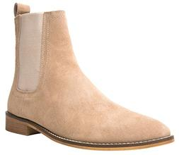Santimon Chelsea Boots Men Suede Casual Dress Boots Ankle Bo