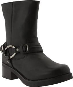 Harley-Davidson Women's Christa Motorcycle Harness Boot, Bla