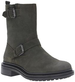 CK Jeans Men's Kris Oiled Suede Motorcycle Boot, Military, 9