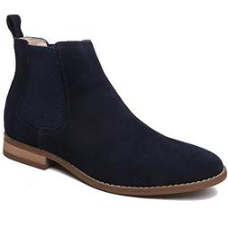 OUOUVALLEY Classic Slip-on Original Suede Chelsea Boots  US,