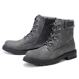 GM GOLAIMAN Combat Motorcycle Boots-Lace Up Zip Boot for Men