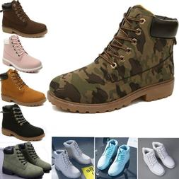 combat womens boots pu leather ankle lace