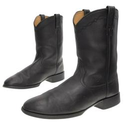 ARIAT Cowboy Boots 14 D Mens Black Leather WESTERN Roper Boo